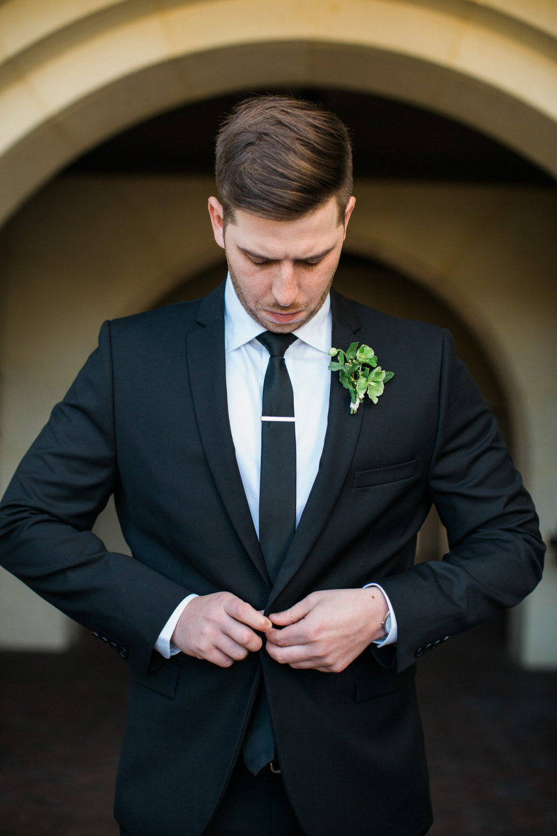Groom at Wedding