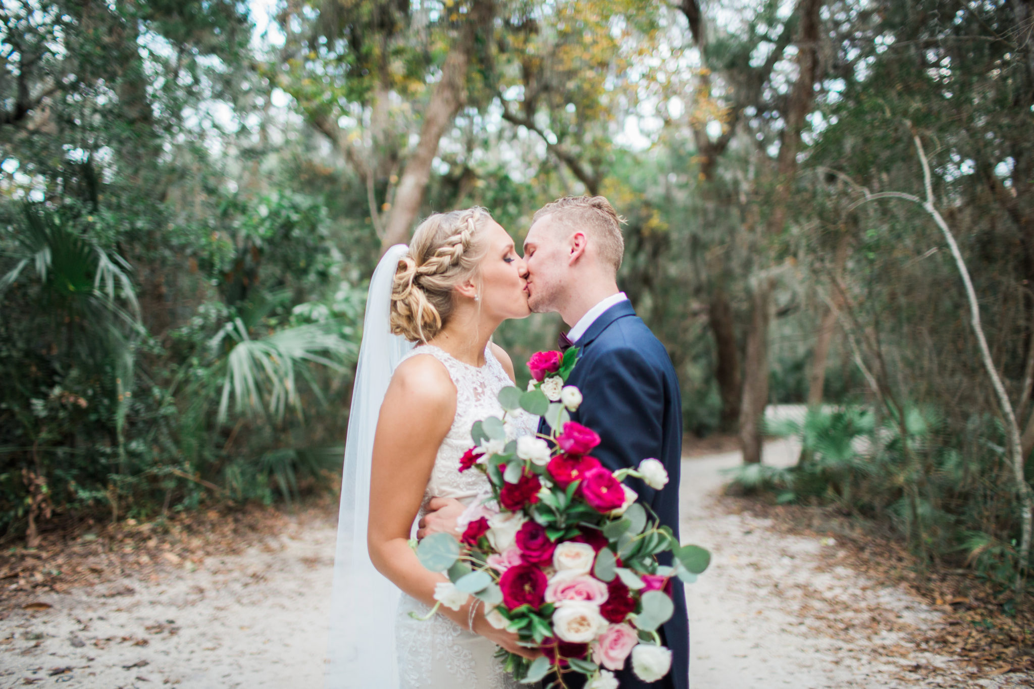 Natalie Broach Photography Walker's Landing Bride and Groom Romantic Kiss