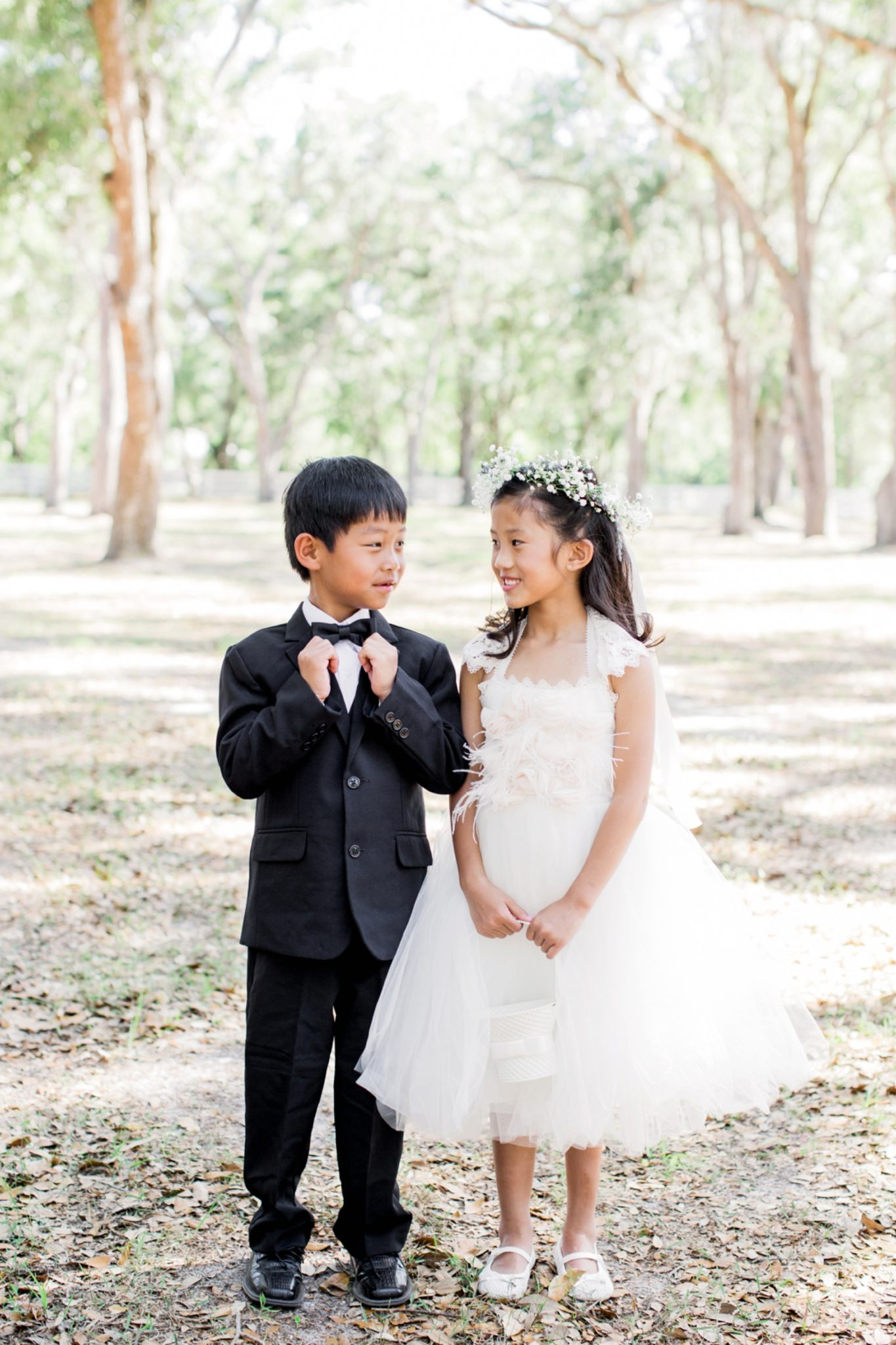 Lance and Meredith Whimsical Chandler Oaks Barn Wedding | St. Augustine, Florida-ring bearer and flower girl