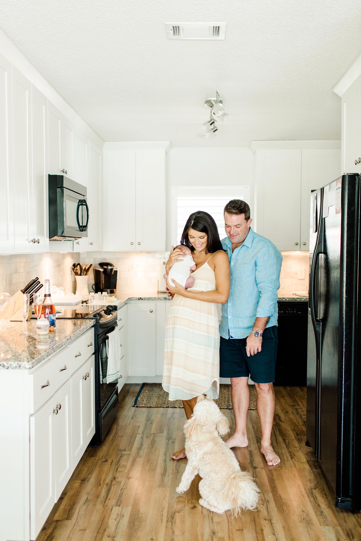 Natalie Broach Photography, Newborn Lifestyle Session, Jacksonville Beach, Florida. Jacksonville Newborn Photographer