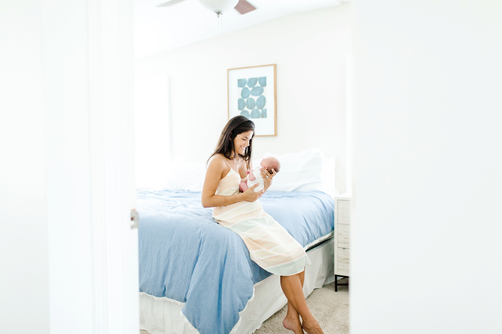 Natalie Broach Photography, Newborn Lifestyle Session, Jacksonville Beach, Florida. Jacksonville Newborn Photographer